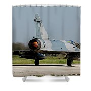 A Hellenic Air Force Mirage 2000 Egm Shower Curtain