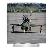 A Hellenic Air Force T-2 Buckeye Shower Curtain