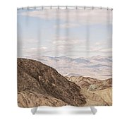 A Hiker Stands On A Peak Shower Curtain