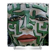 A Maze Ing Face 2 Shower Curtain