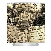 1 A Maze Ing Man Sepia Shower Curtain