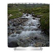 A Mountain Stream In Vanoise National Shower Curtain