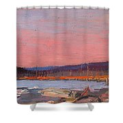 A Northern Lake Shower Curtain