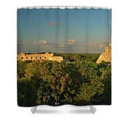 A Panoramic View From Left To Right Shower Curtain