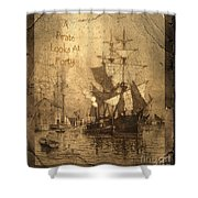 A Pirate Looks At Forty Shower Curtain by John Stephens