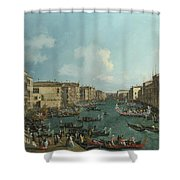 A Regatta On The Grand Canal Shower Curtain