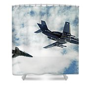A Royal Air Force Hawk  Shower Curtain
