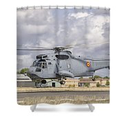 A Spanish Navy Sh-3d Helicopter Shower Curtain