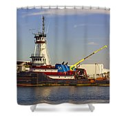 A Tough Old Tugboat Shower Curtain