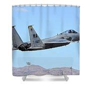 A U.s. Air Force F-15c Eagle Taking Shower Curtain