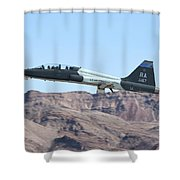 A U.s. Air Force T-38c Taking Shower Curtain