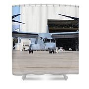 A U.s. Marine Corps Mv-22b Osprey Shower Curtain