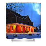 A Winters Eve Shower Curtain