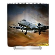 A10 Thunderbolt II Shower Curtain