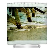 Ab Pilings Shower Curtain