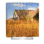 Abandoned Farmhouse In Field 3 Shower Curtain