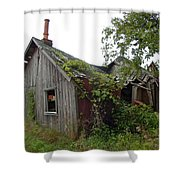 Abandoned Shed Shower Curtain