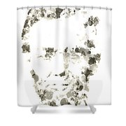 Abraham Lincoln Paint Drops Shower Curtain