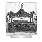 Abraham Lincoln's Funeral Shower Curtain