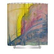 Abstracat Exhibit Shower Curtain