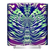 Abstract 140 Shower Curtain