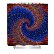 Abstract 142 Shower Curtain