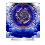Abstract 143 Shower Curtain