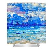 Abstract Beach Shower Curtain