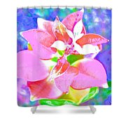 Abstract Colorful Plant Shower Curtain