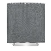 Abstract Hypnotic Lines Shower Curtain