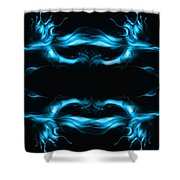 Abstract In Blue Shower Curtain