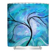 Abstract Landscape Painting Digital Texture Art By Megan Duncanson Shower Curtain
