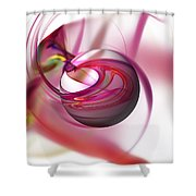 Abstract Red Globe Shower Curtain