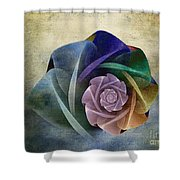 Abstract Rose Shower Curtain