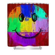 Abstract Smiley Face Shower Curtain