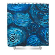 Abstract Watercolour Painting Shower Curtain
