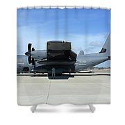 Ac-130j Ghostrider At Hurlburt Field Shower Curtain