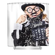 Accountant Crying Number Tears Shower Curtain
