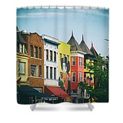Adams Morgan Neighborhood In Washington D.c. Shower Curtain