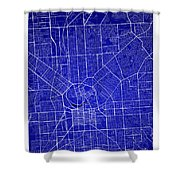 Adelaide Street Map - Adelaide Australia Road Map Art On Colored Shower Curtain
