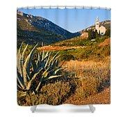Adriatic Landscape Shower Curtain