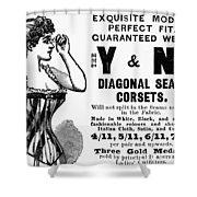 Advertisement Corset Shower Curtain