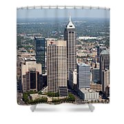 Aerial Of Downtown Indianapolis Indiana Shower Curtain
