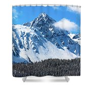 Aerial Of Mount Sneffels With Snow Shower Curtain