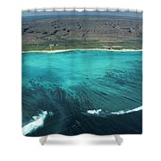 Aerial Of Ningaloo Reef And Cape Range Shower Curtain
