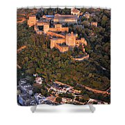 Aerial Photo  Alhambra And Albaycin In Granada Shower Curtain
