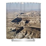 1-aerial Photography Of The Negev  Shower Curtain