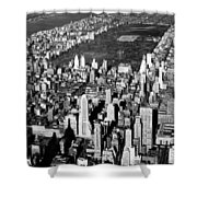 Aerial View Of Central Park Shower Curtain