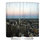 Aerial View Of Melbourne Shower Curtain