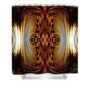 African Moon Abstract Shower Curtain